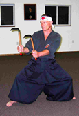 Kobudo - Hanshi Roztocil working with Kama